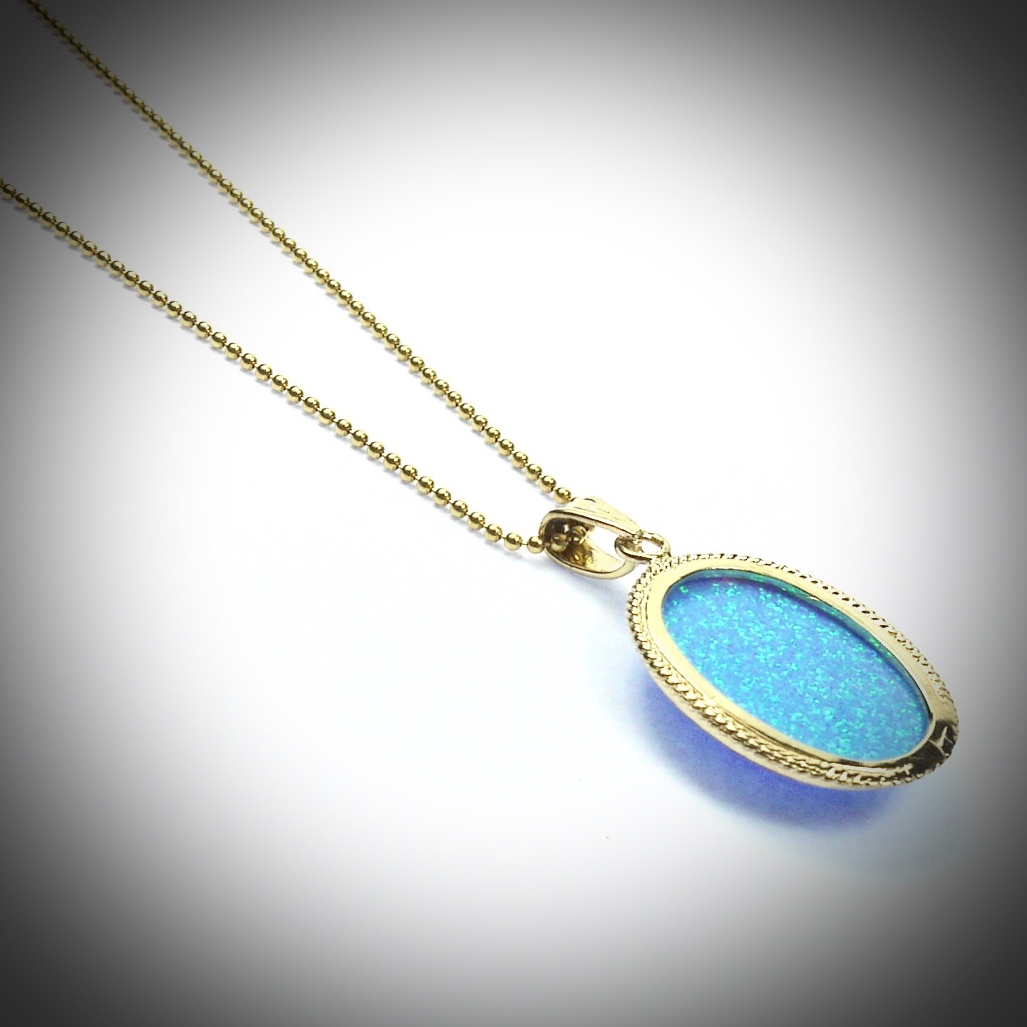 az set pendant b sterling necklace jewelry opal bzl silver solitaire bling round bezel jf blue